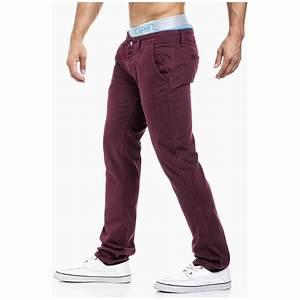Pantalon Décontracté Homme : pantalon homme bordeaux fashion pas cher r f pa14 vetement la mode ~ Carolinahurricanesstore.com Idées de Décoration