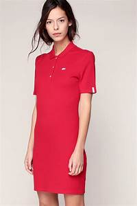 lacoste mid length dresse in red lyst With robe sympa