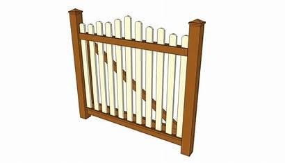 Gate Plans Garden Wood Wooden Diy Fence