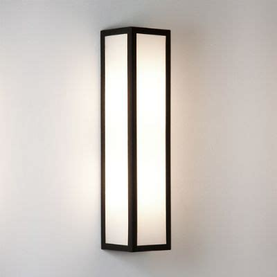 salerno outdoor wall light in black with frosted glass ip44 astro 1178001 0848