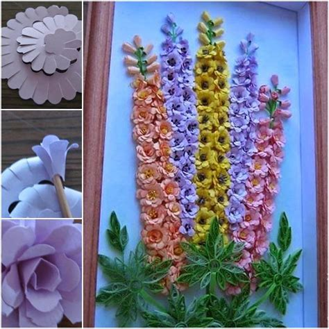Heart of flowers that can decorate your wall or any other home interiors. DIY Quilling Paper Flower Wall Art | UsefulDIY.com