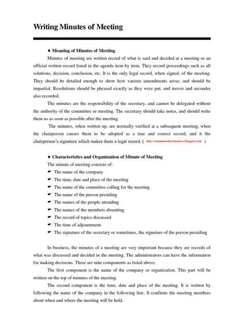 write meeting minutes staffing coordinator