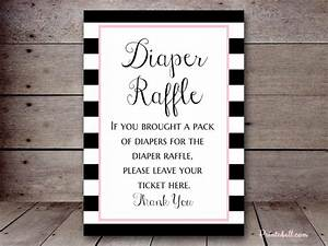 Free Diaper Raffle Template Bs331a 5 X7 Colors Stripes Printabell Create