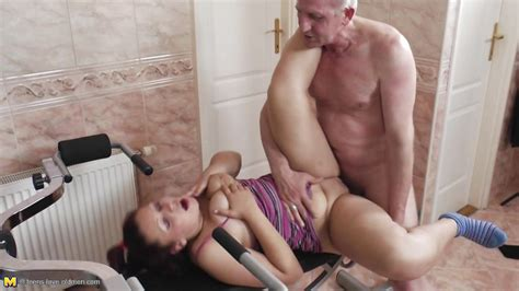 """Erika M. in """"Lucky Old Man Fucking A Cute Redhead Teen"""", HD / From: Mature Nl / Teens Love Oldmen"""