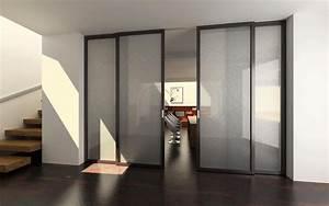 Porte Coulissante En Bois : porte coulissante en bois et verre ~ Melissatoandfro.com Idées de Décoration