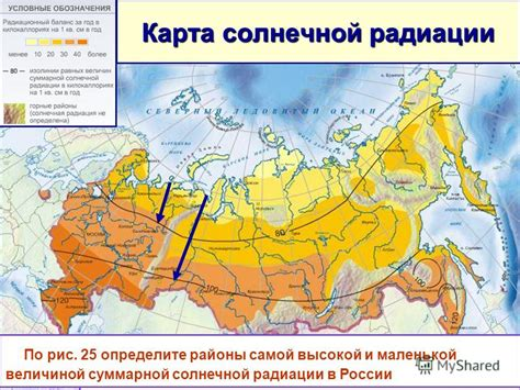 Месячные и годовые суммы суммарной солнечной радиации квт*чм2