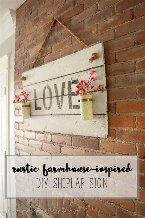 Shiplap Wall Hanging by Rustic Farmhouse Inspired Diy Shiplap Sign It In