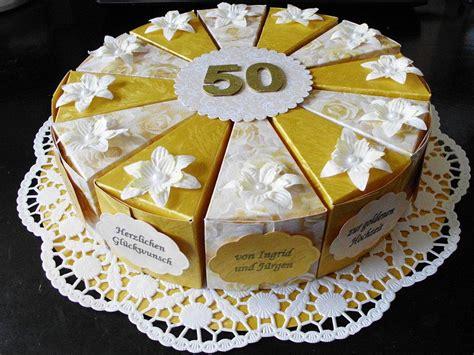 geldgeschenke zur goldhochzeit papiertorte zur goldenen hochzeit paper cake golden