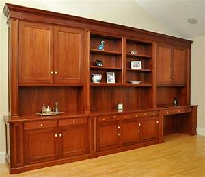 Hand Made Traditional Mahogany Wall Unit /Home Office Desk