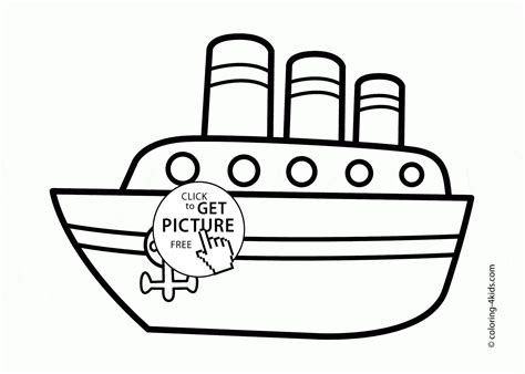 Big Boat Coloring Pages by Big Ship Coloring Page For Transportation Coloring