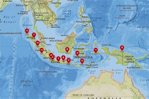 cities  visit  indonesia   map