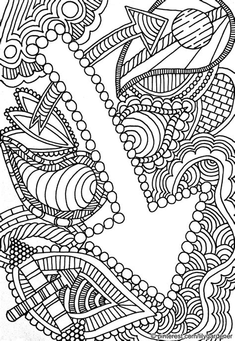 abstract coloring page for adults high resolution free