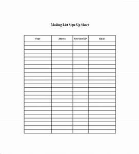 mailing list template free excel templates With email mailing list template