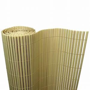 5eur m2 bambus pvc sichtschutzmatte sichtschutz zaun balkon for Feuerstelle garten mit balkon sichtschutz pvc bambus