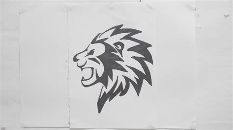 ep    draw lion head tribal tattoo design  youtube
