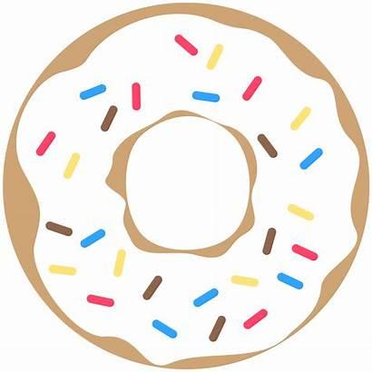 Donut Printable Clipart Party Birthday Doughnut Banner