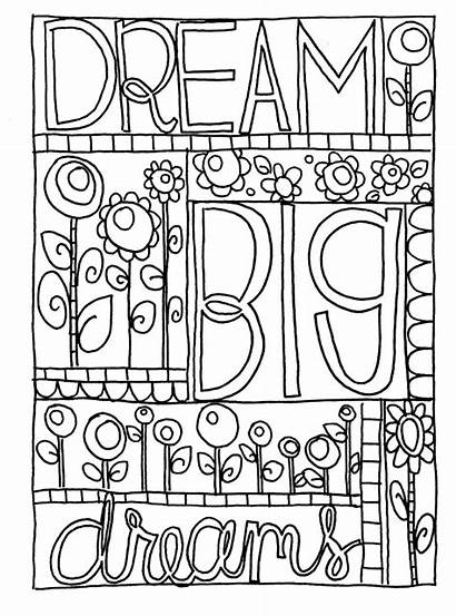 Coloring Doodle Pages Dream Sharpie Printable Journal