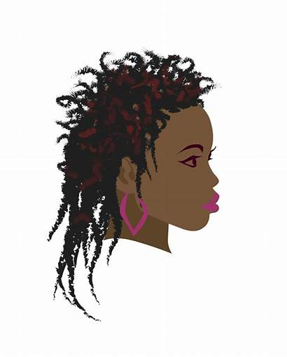 Afro Woman Silhouette Clipart African Clip Transparent