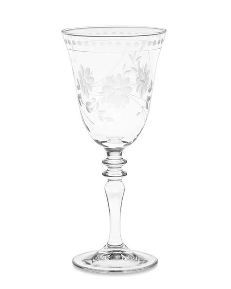 vintage etched wine glass williams sonoma au