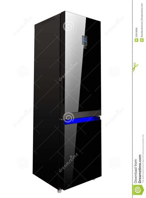 r 233 frig 233 rateur noir brillant de porte deux en verre image libre de droits image 33919896