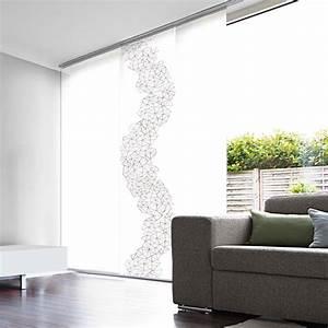 Panneau Rideau Japonais : panneau japonais voile blanc d vor enduit prismes ~ Zukunftsfamilie.com Idées de Décoration