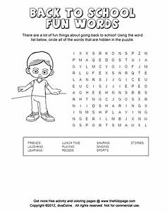 Back to School Fun, Word Search Puzzle - Printable ...