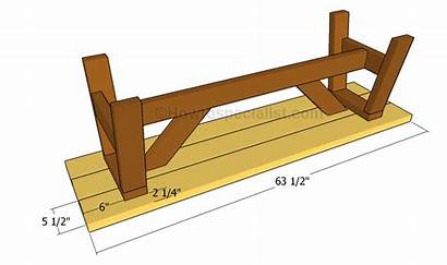 Seat Bench Plans Wooden Slats Build Attaching