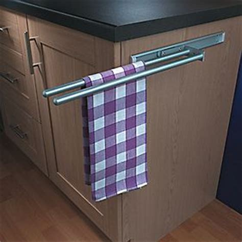 kitchen cabinet towel rail hafele aluminium towel rails cabinet storage screwfix