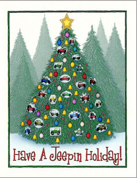christmas jeep card all things jeep quot jeep ornament christmas tree quot holiday cards