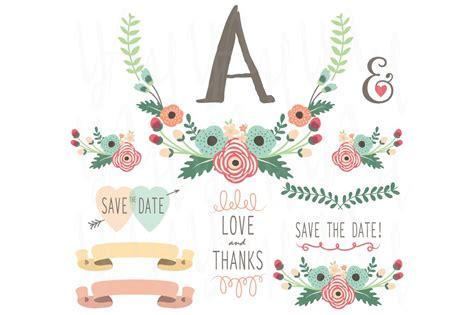 flower monogram table card illustrations creative market