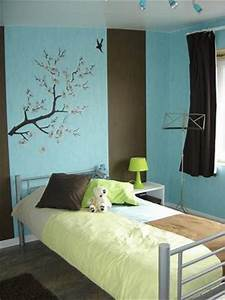 chambre turquoise et marron 4 photos eva36 With chambre marron et turquoise