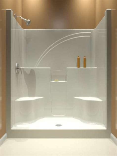 piece shower stall ideas  pinterest
