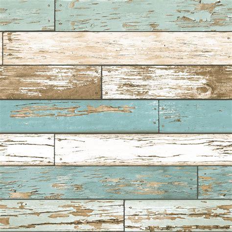 A Street Prints Scrap Wood Teal Wallpaper 2701 22318