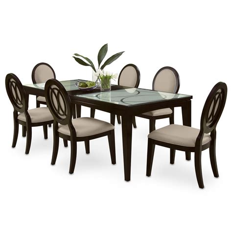 furniture dining room sets cosmo 7 pc dining room signature furniture