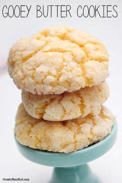 gooey butter cookie recipe cake batter cakes  cookies