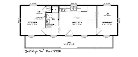 16'x40' Cabin Floor Plans In