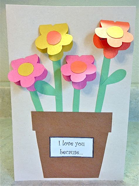 mothers day construction paper vase fun family crafts