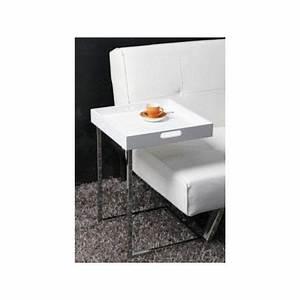 Table D Appoint Canapé : table d 39 appoint carr e blanc eve achat vente bout de ~ Teatrodelosmanantiales.com Idées de Décoration