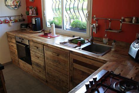 meuble cuisine en palette fabriquer meuble en palette bricolage maison et décoration