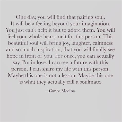 carlos medina quote words soulmate soul