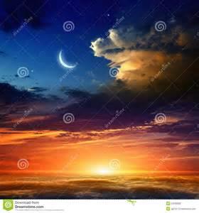 Dark Blue Moon Sunset