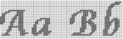 calligraphic needlepoint alphabet  pattern