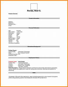 5 blank resume forms manager resume With documents 5 online download