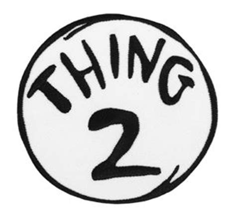 Thing One T Shirt Template by Dr Seuss Thing 2 Embroidered Patch 344694