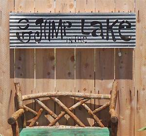 go jump in the lake lit sign With corrugated metal letters wholesale