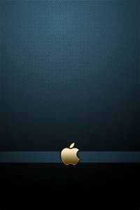 Gold Apple Logo with Blue Background iPhone 6 / 6 Plus and ...
