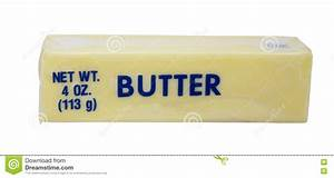 Stick of Butter stock image. Image of cholesterol ...