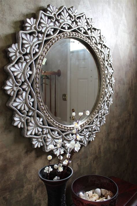 Decorative Mirror - pier 1 shell of pearl mirror in an entryway