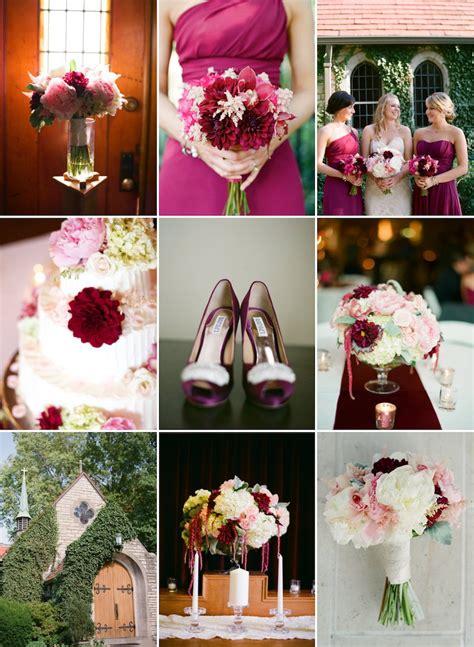 romantic fall wedding color palette  wine blush  cream