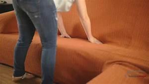 Comment Recouvrir Un Canapé D Angle : housse lastique por canape d 39 angle youtube ~ Melissatoandfro.com Idées de Décoration